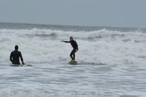 Surfing at Llangennith