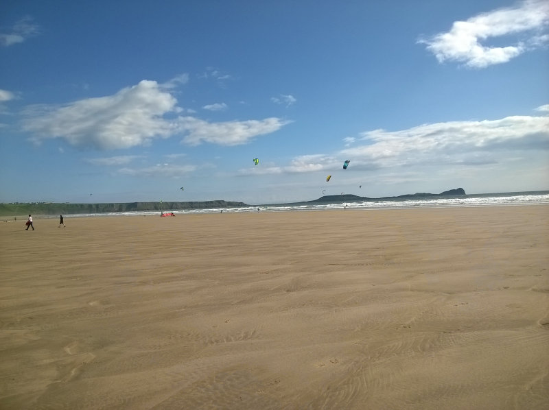 Llangennith beach in June